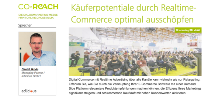 "Co-Reach Vortrag zu ""Real Time Commerce"""